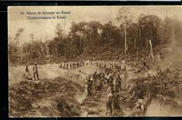 Carte Illustrée Neuve N° 19.  Vue 34.: Mines De Diamant Au Kasaï  - Diamantmijnen In Kasaï - Entiers Postaux