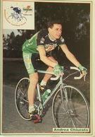 Postcard Andrea Chiurato - Gatorade-Chateau D'Ax  - 1992 - Ciclismo
