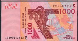 W.A.S. RARE P915Ss  1000 FRANCS  (20)19 UNC. - Westafrikanischer Staaten