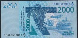 W.A.S. RARE P916Ss  2000 FRANCS  (20)18 UNC. - Westafrikanischer Staaten