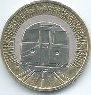 United Kingdom / Great Britain - 2013 - 2 Pounds - Elizabeth II - KM1239 - 150th Anniversary Of London Underground - 1971-… : Monete Decimali