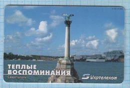 UKRAINE / 011 / Phonecard Ukrtelecom / Phone Card / Good Memories Sevastopol Monument To Scuttled Ships 07/2003 - Oekraïne