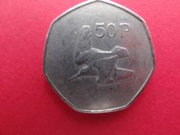 Irlande  50 Pence 1975  Km 24 - Irlanda
