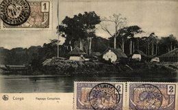 CONGO PAYSAGE CONGOLAIS TIMBRE NO 48 49 YT - Autres