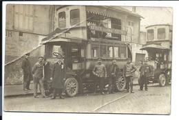 COMPAGNIE GÉNÉRALE Des OMNIBUS (à Impériale N°38) Ligne Montmartre - Rue Du Poteau - Place St Michel - CARTE PHOTO - Public Transport (surface)