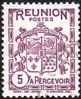 Réunion Obl. N° Taxe 16 - Armoiries De L'Ile Le 5c Violet - Timbres-taxe