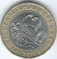 United Kingdom / Great Britain - 2016 - 2 Pounds - Elizabeth II - Shakespeare Comedy - 1971-… : Decimal Coins