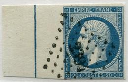 !!! PRIX FIXE : N°14 OBLITERE AVEC FILET D'ENCADREMENT SIGNE CALVES. 1ER CHOIX - 1853-1860 Napoleon III