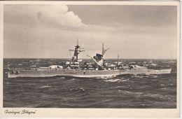 DR - Kriegsmarine Kreuzer Lützow Sw-Fotokarte Feldpost 14059 N. München 1941 - Deutschland