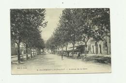 34 - CLERMONT L'HERAULT - Avenue De La Gare Animée Bon état - Clermont L'Hérault
