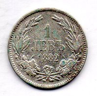 BULGARIA, 1 Lev, Silver, Year 1882, KM #4 - Bulgarien