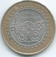 United Kingdom / Great Britain - 2004 - 2 Pounds - Elizabeth II - KM1049 - 200th Anniversary Of The Steam Locomotive - 1971-… : Monete Decimali