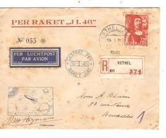 REF1206/ Holland Registered Air Mail (Per Raket , J1 46')  C.Kethel 19/1/49 + Gestart Per > Brussels Rocket Flight - Poste Aérienne