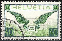 Schweiz Suisse 1933: Flugbrief Zu Flug 15z Mi 234z Yv PA9a Geriffelt Papier Grillé  Mit Eck-o  RÜTI ?.X.34 Zu CHF 110.00 - Usados