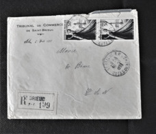 Lettre Recommandée De Saint-Brieuc Pour Binic (22) . N° 941 (2) - 1921-1960: Période Moderne