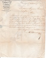1855 DUNKERQUE -Transit & Roulage, Affrêtements, Réception - Maison A. BELVAL & Cie Pour MM. LIEGARD à CAEN - Documents Historiques