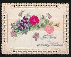 IMAGE PIEUSE  H.PRENTJE    12 X 9  CM  SOUVENIR DE PREMIERE COMMUNION  RELIEF  GAUFRE - Communion