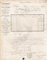 1872 - VERRERIES DU FRAIS MARAIS-lez-DOUAI - Maison Louis CHAPPUY à M. FORGES Jeune à LIBOURNE - Documentos Históricos