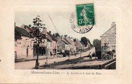 CPA , Montreuil Aux Lions  , Carte Animée , Carte Postale Ancienne Dept 02 - France