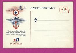CARTE FRANCHISE MILITAIRE ST RAPHAEL QUINQUINA NEUVE - Marcophilie (Lettres)