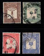 Palestine 1924 Mi. 6,8,9,10 Oblitéré 100% Chiffres - Palestine