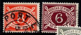 Irlande 1940 Mi. 11,12 Z Oblitéré 100% Timbre-taxe 8 Pg, 6 Pg - Postage Due