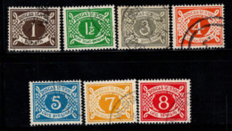 Irlande 1971 Mi. 15-21 Oblitéré 100% Timbre-taxe - Postage Due