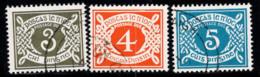 Irlande 1978 Mi. 22-24 Oblitéré 100% Timbre-taxe - Postage Due