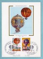 Carte Maximum 1983 - Bicentenaire De L'air Et De L'espace - Pilâtre De Rozier - YT 2261 Et 2262 - Le Bourget - 1980-89