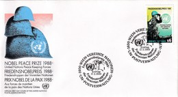 United Nations Vienna 1989 Cover: Nobel Prize Peace 1988; United Nations Peace Force - ONU