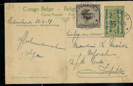 Occ. Belge; Carte Obl.  N° 17 - Obl. Usumbura 26/04/1929 Pour Jupille (Belgique) - Entiers Postaux