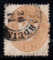 Autriche 1863 Mi. 28 Oblitéré 100% 15 Kr - 1850-1918 Imperium