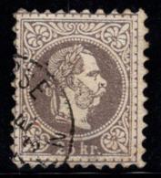 Autriche 1867 Mi. 40 Oblitéré 20% Franz Joseph, 25 Kr - 1850-1918 Imperium