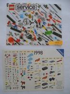 LEGO : SERVICE Catalogues Des Pièces Détachées - LOT De 2 - 1993 Et 1998 - Voir Les Scans - Catalogues