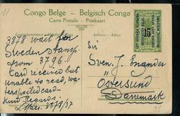 Occ. Belge; Carte Obl.  N° 17 - Pas D'obl. Vers Le Danemark  Obl Devant  1937 - Entiers Postaux