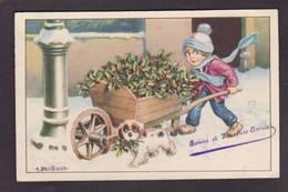 CPA Bertiglia Illustrateur Italien Circulé Houx - Bertiglia, A.