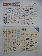 LEGO : SERVICE Catalogues Des Pièces Détachées - LOT De 2 - 1995 Et 1998 - Voir Les Scans - Catalogues