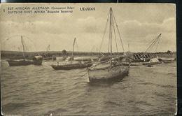 Occ. Belge; Carte Illustrée Obl.  1918 N° 12. Vue: 1 - UDJIDJI (embarcations) - Entiers Postaux
