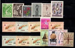 Timor 1950-62 Neuf ** 80% Année Sainte, Charte Géographique, Saint-François - Timor