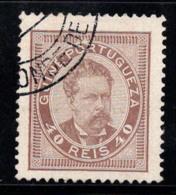 Guinée Portugaise 1886 Mi. 19C Oblitéré 80% Roi Louis Ier, 40 R. - Portuguese Guinea