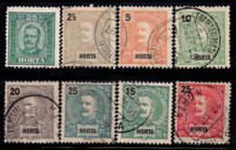 Horta 1892-1905 Oblitéré 40% Roi, 2 1/2 R, 5 R, 10 R, 15 R... - Horta