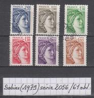 France Sabine De Gandon (1979) Y/T Série 2056/2061 Oblitérés - 1977-81 Sabine De Gandon