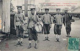 Cpa TONKIN - HANOI - Tirailleurs Tonkinois - Groupe De Tambours Et Clairons - Voir Correspondance - Viêt-Nam