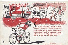 """Buvard CHAMBRE Nationale Du CYCLE """" Si Les Rois """"fainéants"""" Avaient Connu La Bicyclette ..... - Papel Secante"""