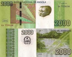 ANGOLA 2000 Kwanzas 2012 (2017) - Dande Falls, P157, UNC, New Signature - Angola