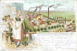 1902 - PUNTIGAM   GRAZ   BRAUEREI, Gute Zustand, 2 Scan - Graz