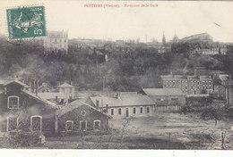 POITIERS : TRES RARE CPA DE 1908.LES ENVIRONS DE LA GARE.T.BON ETAT PETIT PRIX.A SAISIR - Poitiers