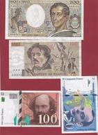 France 4 Billets ---dans L 'état ---voir Scan --lot 4 - France