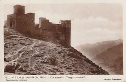 Carte Postale. Maroc. Atlas Marocain. Casbah Tagoundaf. Véritable Photo De Flandrin. Etat Moyen. Petites Taches. - Monuments