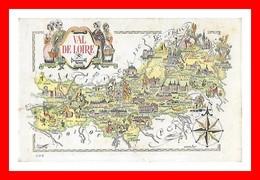 CPA (18) VAL DE LOIRE. Carte Géographique...C696 - Centre-Val De Loire